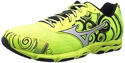 Mizuno Men's Wave Hitogami 2 Running Shoe, Neon Yellow/silver, 9.5 D Us