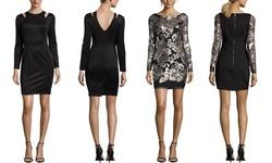 Sable + Zoe Long Sleeve Cocktail Dress: Multi - Large