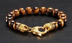West Coast Men's Spiritual Wellness & Healing Stone Bracelets - Tiger Eye