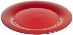 """Carlisle Sierrus 5.5"""" Wide Rim Melamine Plates - Red -  Pack of 48"""