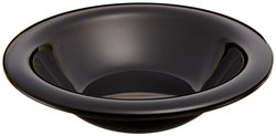 Carlisle Sierrus Melamine Rimmed Nappie Bowls - Black - Set of 24