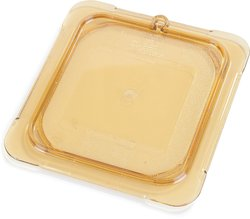 Carlisle TopNotch High Heat Universal Flat Lid - Amber - Case of 6