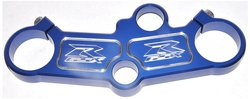 Anodized Solid Design Blue Top Clamp for Suzuki GSX-R 1000 (EA2983BU)