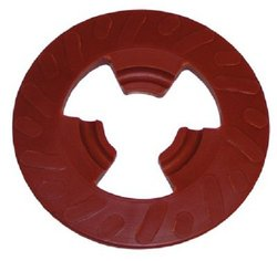 "3M 4 "" Extra Hard Disc Pad Face Plate Ribbed - Red (28656)"