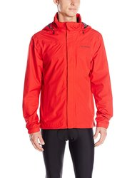 Vaude Men's Escape Light Bike Rain Jacket - Red - Size: Extra Large