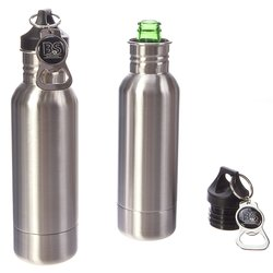 Bar & Steel Beer Bottle Insulator - Twin Pack - Stainless Steel