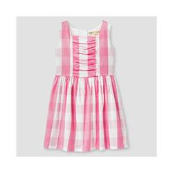 Oshkosh Girl's Buffalo Plaid Dress - Pink - Size: Medium