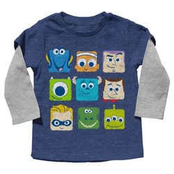 Disney Pixar Boy's Tee Shirt - Blue - Size: 12 Month
