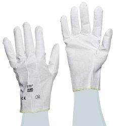 Ansell Cut Resistant Vinyl Glove - White - Size: Small
