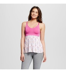 Gilligan & O'Malley Women's Nursing Sleep Cami - Pink - Size: Small