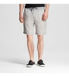 Mossimo Men's Linen Shorts - Grey - Size: Small