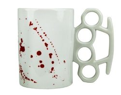 Knuckle Duster Blood Spattered Mug