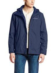 Columbia Men's Watertight II Packable Rain Jacket, Collegiate Navy, Large