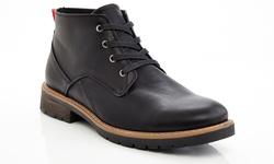 Men's Lace Up Ankle Combat Chooka Casual Boots - Black - Size: 12