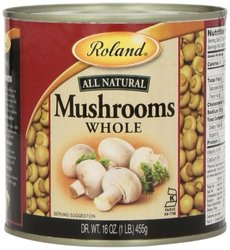 Roland Mushrooms Whole Can Pack of 4 - 16 Oz