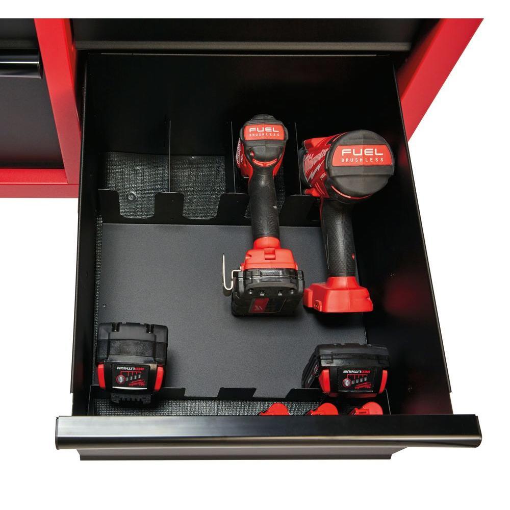 ... Black Milwaukee 46 In. 8 Drawer Rolling Steel Storage Cabinet   Red/  Black ...