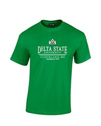 NCAA Delta State Statesmen Classic Seal T-Shirt, XX-Large, Irish Green