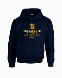 NCAA Marquette Golden Eagles Classic Seal Long Sleeve Hoodie, X-Large, Navy