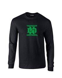 NCAA North Dakota Mascot Foil Long Sleeve T-Shirt, Medium, Black