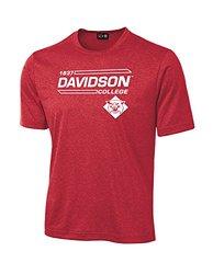 NCAA Davidson Wildcats University Tech Performance T-Shirt, Small, Red