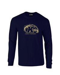NCAA Kent State Golden Flashes Mascot Foil Long Sleeve T-Shirt, X-Large, Navy