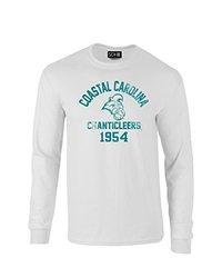 NCAA Coastal Carolina Chanticleers Mascot Block Arch Long Sleeve T-Shirt, XX-Large, White