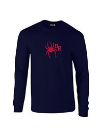 NCAA Richmond Spiders Mascot Foil Long Sleeve T-Shirt, Medium, Navy