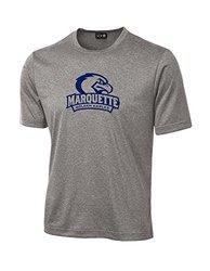 NCAA Marquette Golden Eagles School Standard Mascot Tech Performance T-Shirt, X-Large, Sport Grey