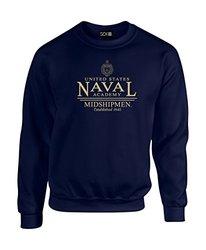 NCAA Navy Midshipmen Classic Seal Crew Neck Sweatshirt, Large, Navy