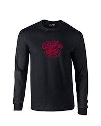 NCAA Iowa State Cyclones Mascot Foil Long Sleeve T-Shirt, X-Large, Black