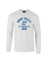 NCAA Emory Eagles Mascot Block Arch Long Sleeve T-Shirt, Large, White
