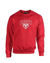 NCAA Brown Bears Mascot Foil Crew Neck Sweatshirt, Medium, Red