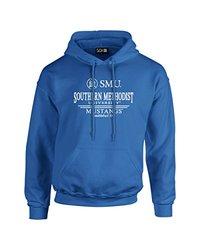 NCAA Smu Mustangs Classic Seal Long Sleeve Hoodie, Large, Blue