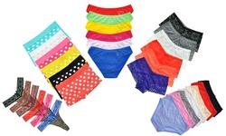 Mystery 6-pack Panties Deal: Cotton Thongs/medium (4-6)