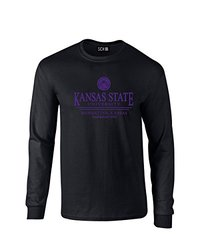 NCAA Kansas State Wildcats Classic Seal Long Sleeve T-Shirt, Small, Black