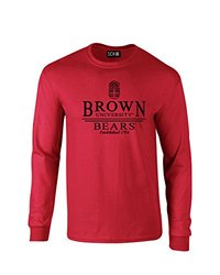NCAA Brown Bears Classic Seal Long Sleeve T-Shirt, Small, Red