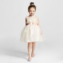 Cherokee Toddler Girls' Sleeveless Dress - Pale Blush - Size: 5T