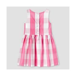Genuine Kids by Oshkosh Girls Buffalo Plaid Dress - Pink - Size: L