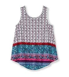 Xhilaration Girls' Crochet Trim Tank Top - Ivory- Size: L(10-12)