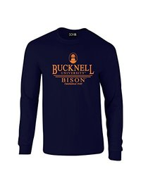 NCAA Bucknell Bison Classic Seal Long Sleeve T-Shirt, XX-Large, Navy