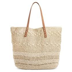 Merona Women's Soft Straw Tote Handbag - Natural