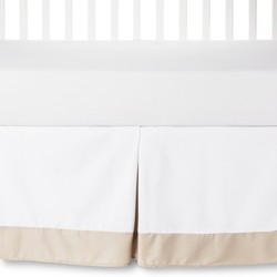 Circo Craft 100% Cotton Pleated Baby Crib Bed Skirt - Brown & White