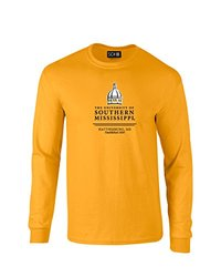 Sdi NCAA Southern Mississippi Classic Seal T-Shirt - Gold - Size: X-Large