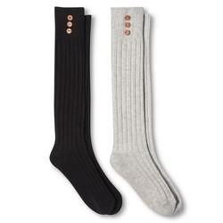 Merona Women's Casual Boot Socks - 2 Pack - Light Grey Heather - Sz: 4-10