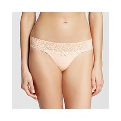 Xhilaration Women's Wide Lace Thong - Feather Peach - Size: M