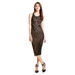 Mossimo Women's Burnout Bodycon Midi Dress - Ebony Ikat - Size: Medium