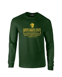 SDI NCAA North Dakota State Classic Seal Men's T-Shirt - Blk- Size: Forest