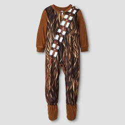 Star Wars Toddler Chewbacca Fleece Boys' Footed Sleeper - Brown - Size: 2T