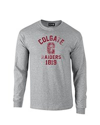 NCAA Colgate Raiders Mascot Block Arch Long Sleeve T-Shirt, X-Large, Sport Grey
