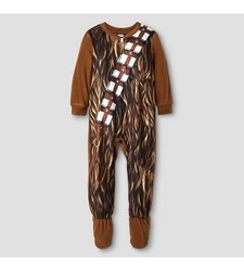 Star Wars Toddler Boys' Chewbacca Fleece Footed Sleeper - Brown - Size: 5T